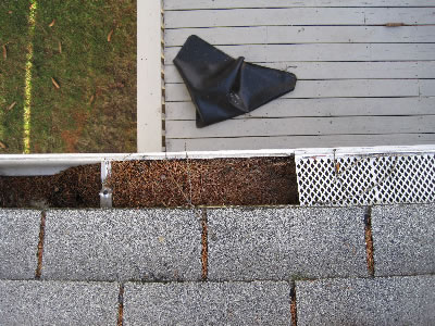 gutters-with-covers-clogged